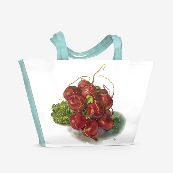 Пляжная сумка «Букет редиса.»