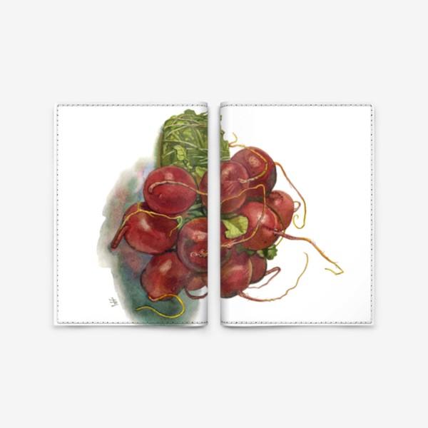 Обложка для паспорта «Букет редиса.»