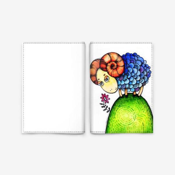 Обложка для паспорта «Барашек на лужайке»