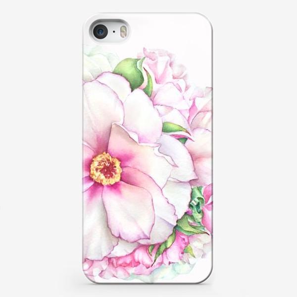 Чехол iPhone «Букет пионов»