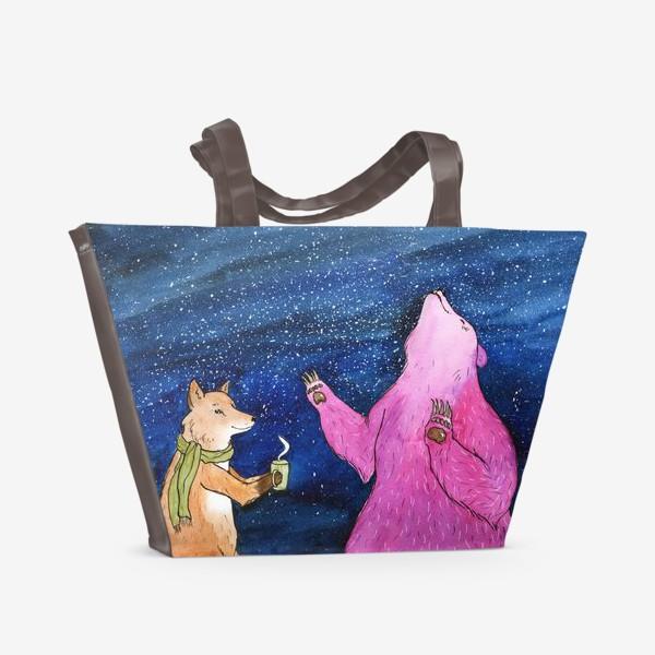 Пляжная сумка «Ночной разговор»