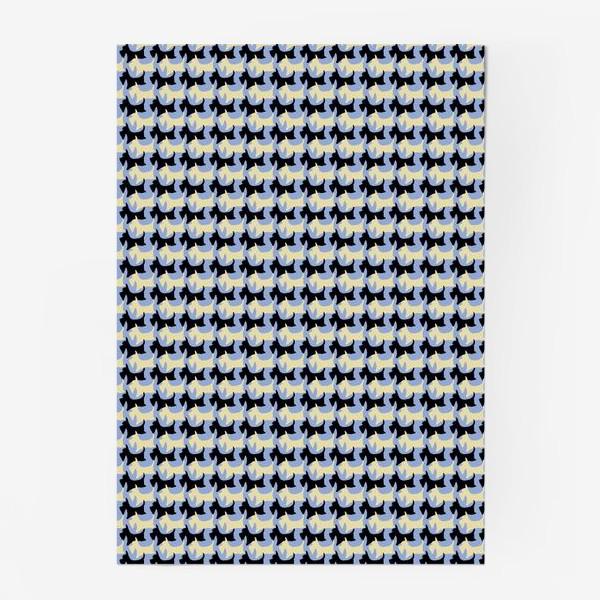 Постер «Геометрический паттерн шотландский терьер пшеничный и черный»