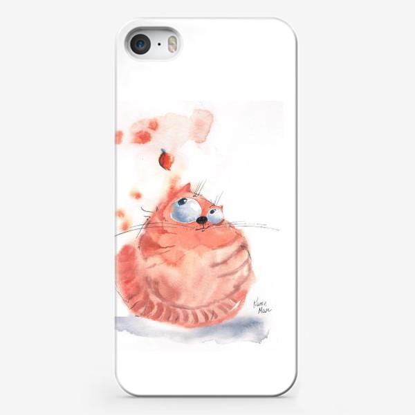 Чехол iPhone «Осенний кот»