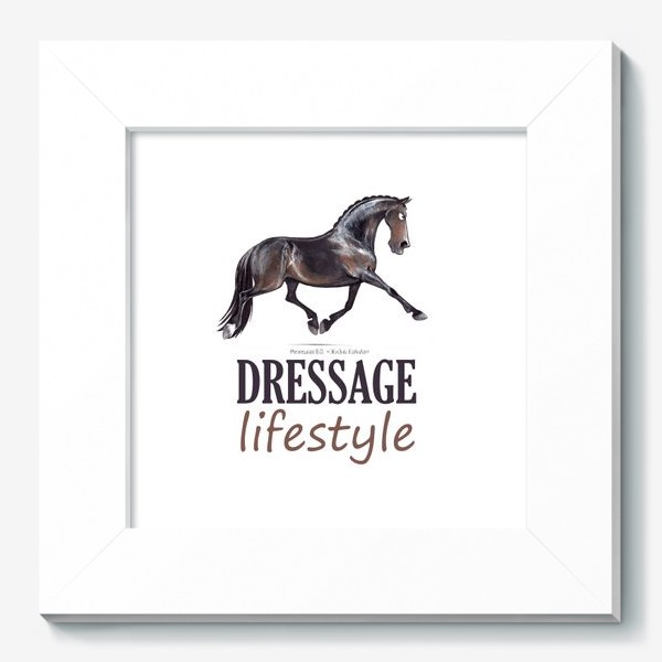 Картина «DRESSAGE LIFESTYLE. ВЫЕЗДКА»