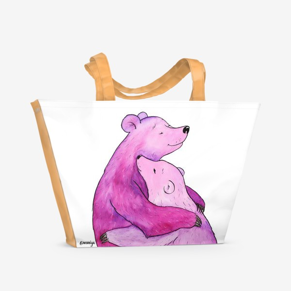 Пляжная сумка «Обнимаю»