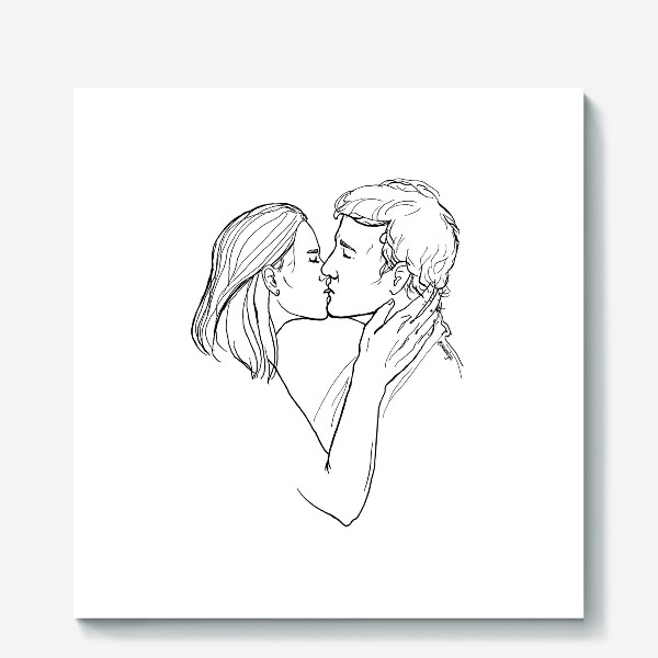 Холст «Целую»