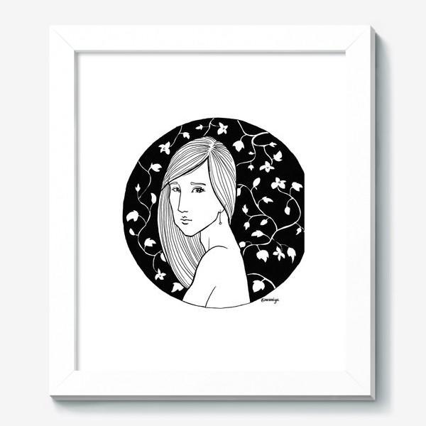 Картина «Девушка в цветах, белое»