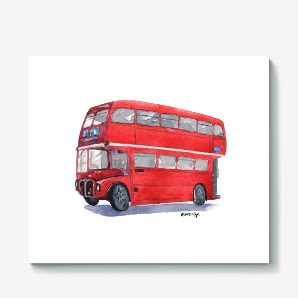 Холст «Лондонский автобус»