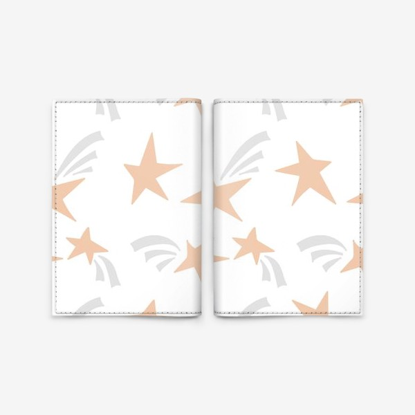 Обложка для паспорта «Stars Pink»