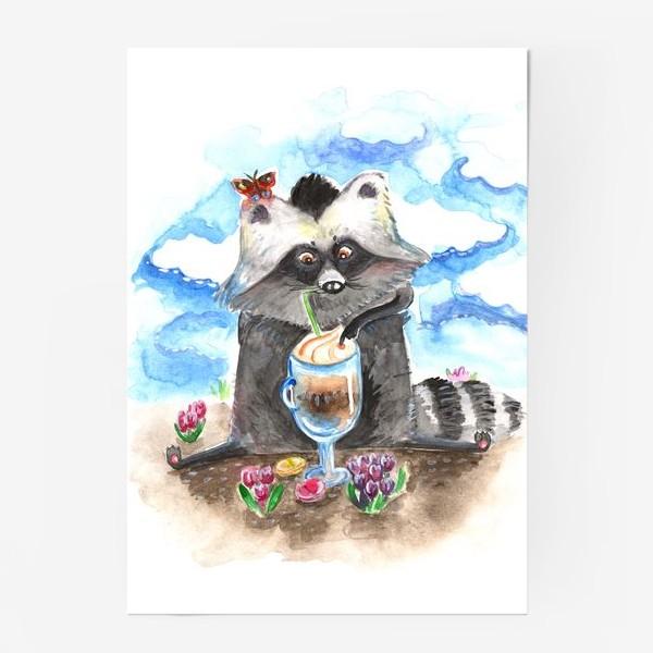 Постер «Енотовидная собака и латте»