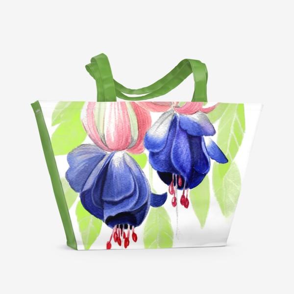 Пляжная сумка «Комнатные цветы»
