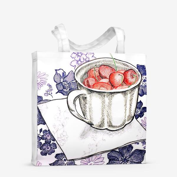 Сумка-шоппер «Вишня в чашке»