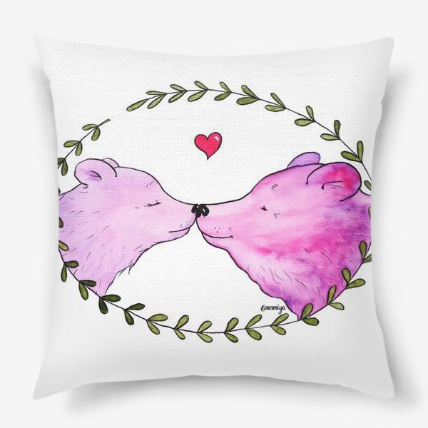 Подушка «Люблю. Мишки»