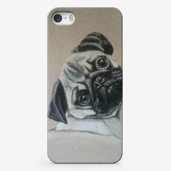 Чехол iPhone «Мопс»