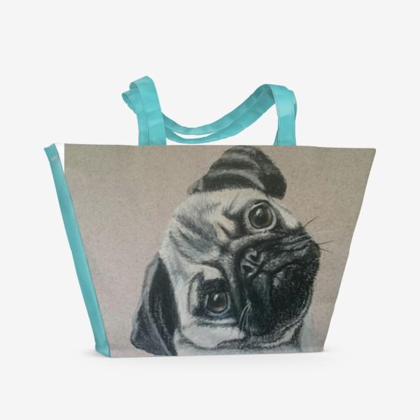 Пляжная сумка «Мопс»