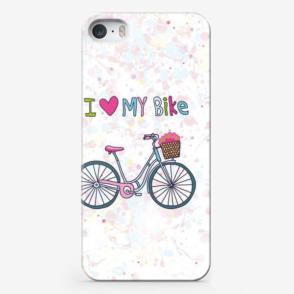 Чехол iPhone «Я люблю свой велосипед»