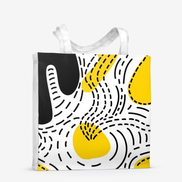 Сумка-шоппер «Стильный геометрический узор пятна и стежки»