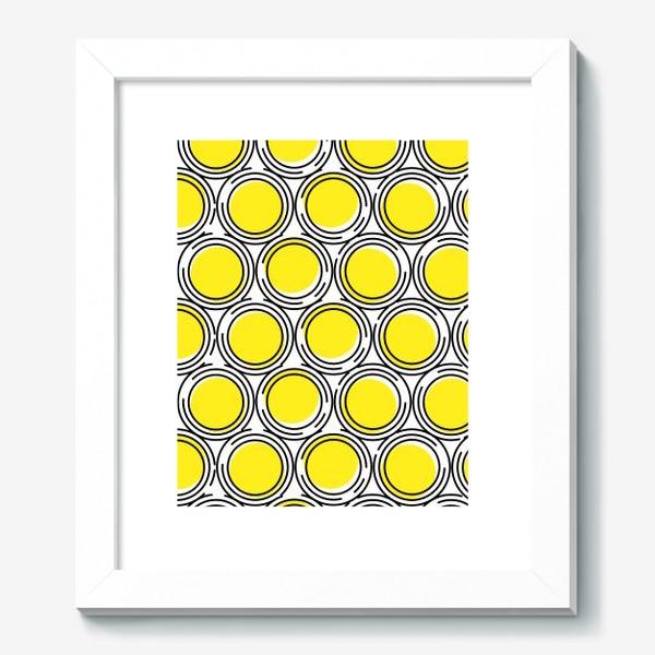 Картина «Геометрический узор желтые круги»