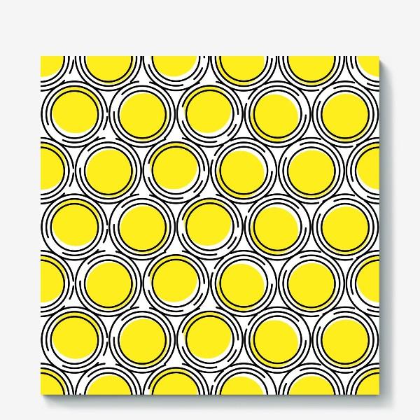 Холст «Геометрический узор желтые круги»