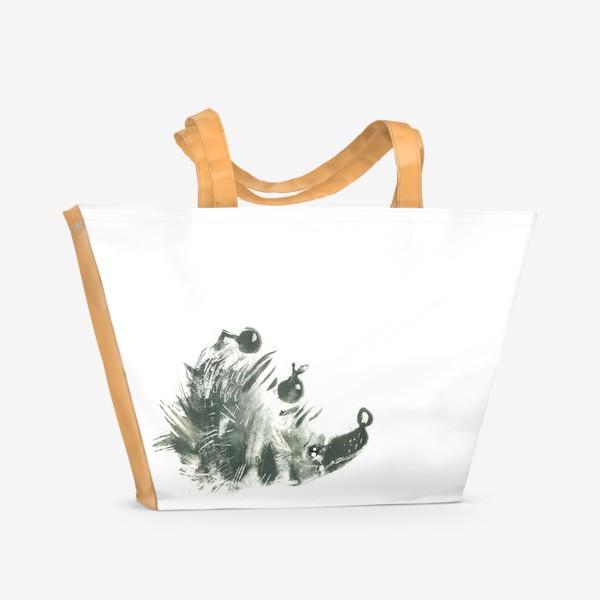 Пляжная сумка «Очень серьезный ёж»