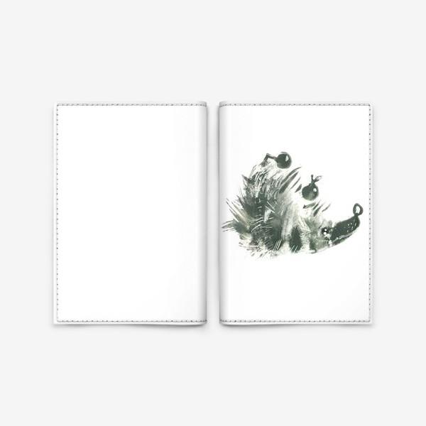 Обложка для паспорта «Очень серьезный ёж»