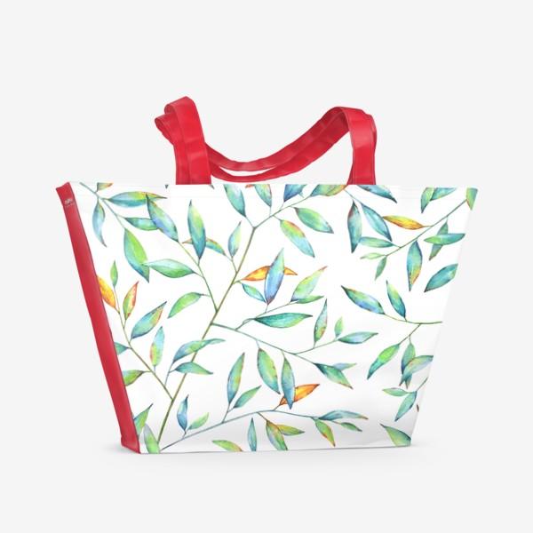 Пляжная сумка «Весенняя листва»