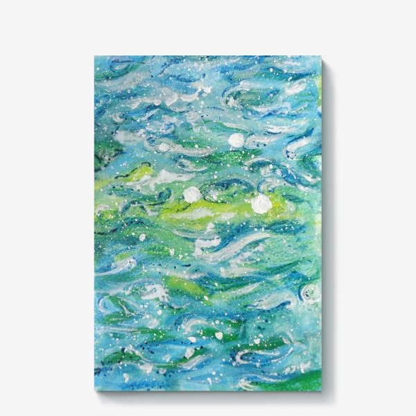 Холст «Волны. Абстракция.»