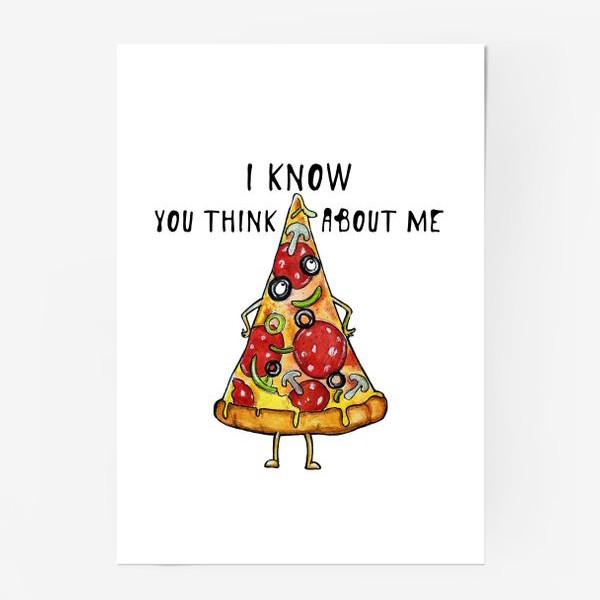 Постер «Уверенная в себе Пицца »