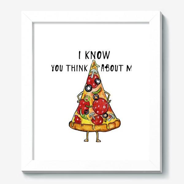 Картина «Уверенная в себе Пицца »