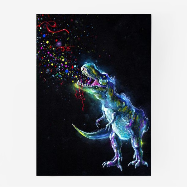 Постер «Crystal T-Rex in Space»