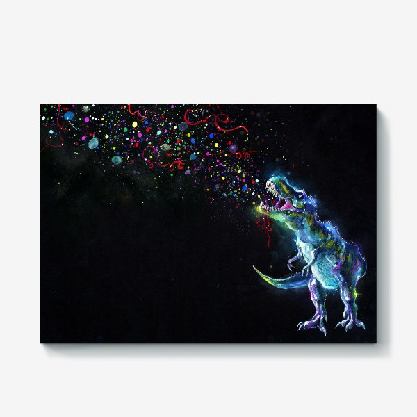 Холст «Crystal T-Rex in Space»