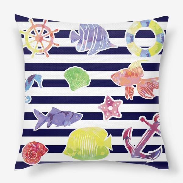 Подушка «В мире морском»