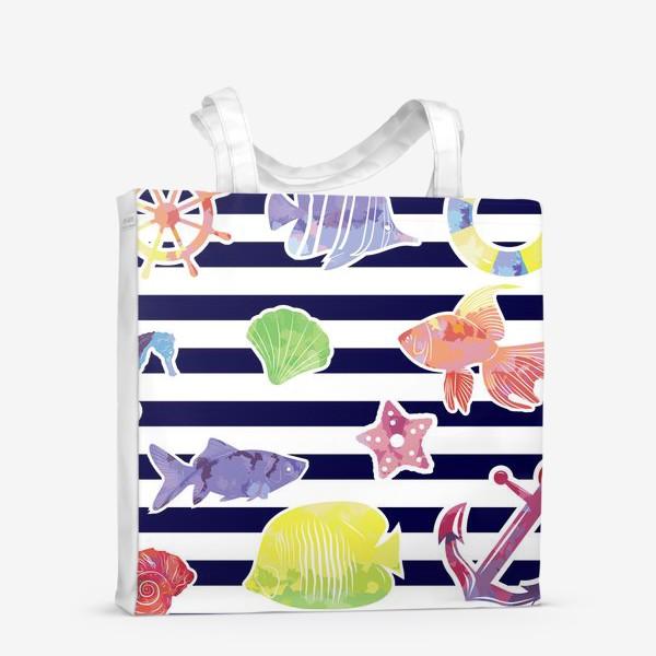 Сумка-шоппер «В мире морском»