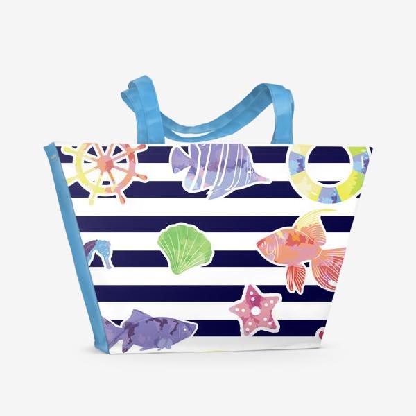 Пляжная сумка «В мире морском»