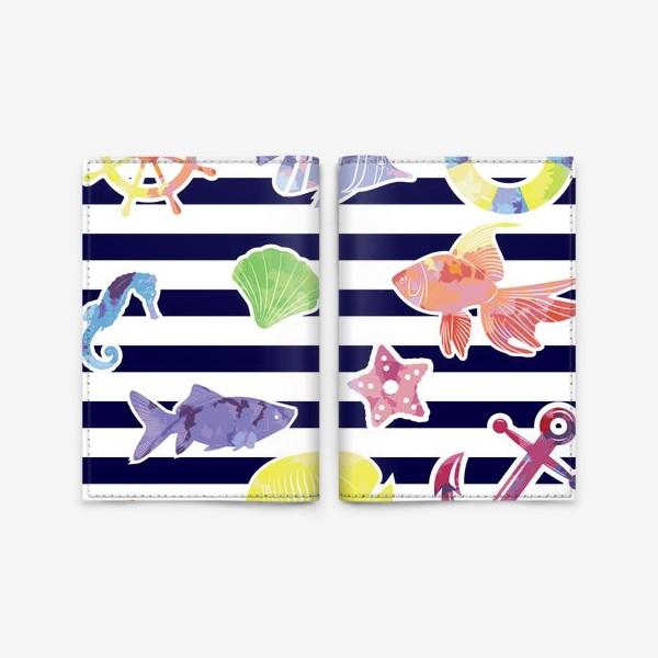 Обложка для паспорта «В мире морском»