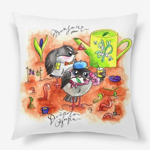 Подушка «Синички и первомай»