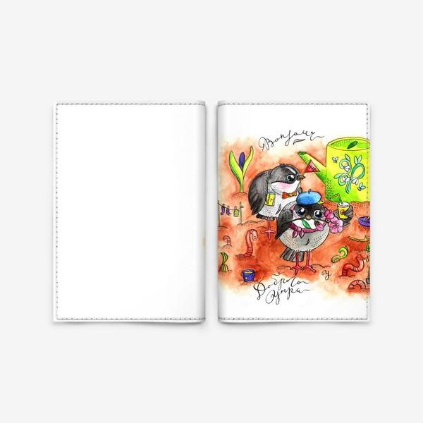 Обложка для паспорта «Синички и первомай»