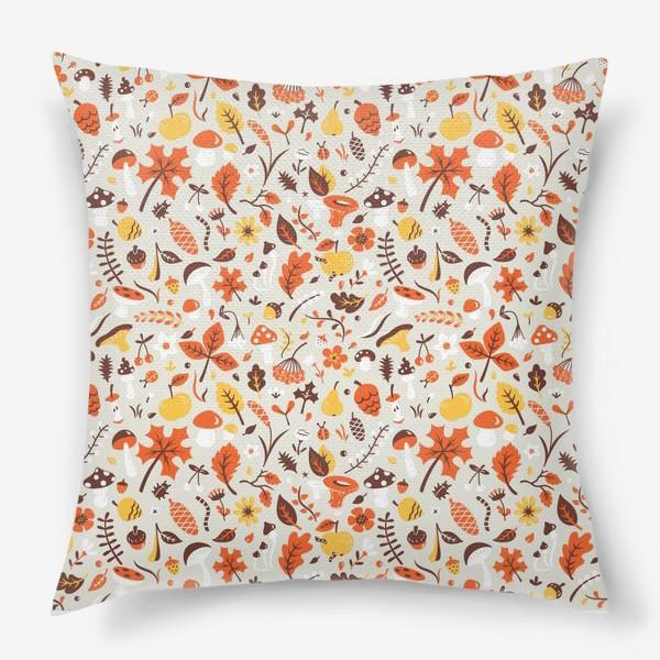 Подушка «Осенний паттерн»