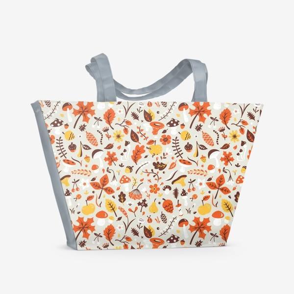 Пляжная сумка «Осенний паттерн»