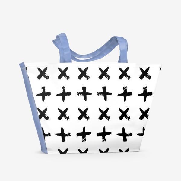 Пляжная сумка «Крестики»