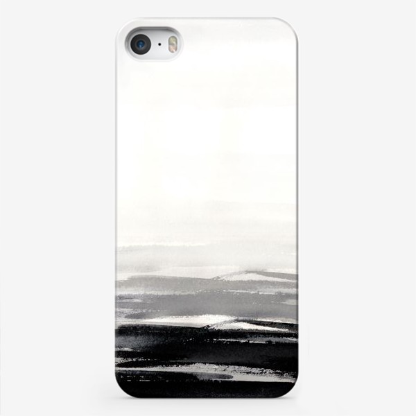 Чехол iPhone «Черно-белая акварель»