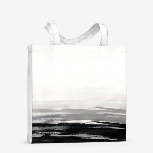 Сумка-шоппер «Черно-белая акварель»