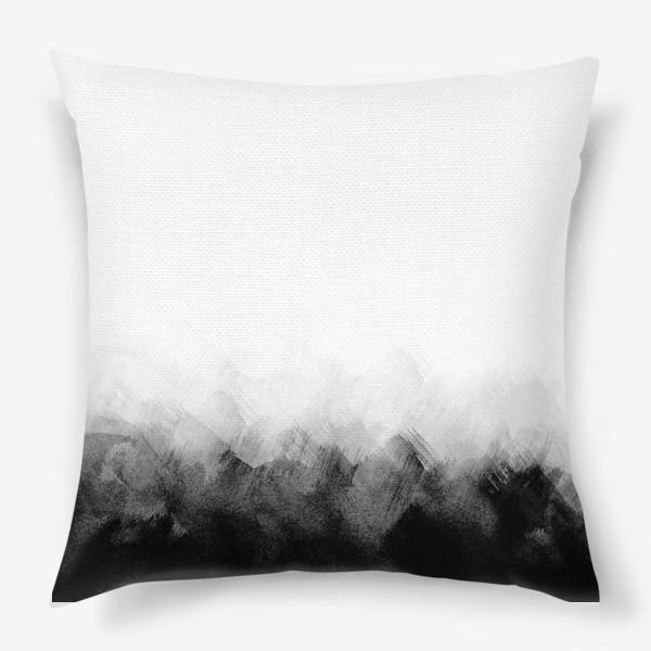 Подушка «Акварельный монохром»