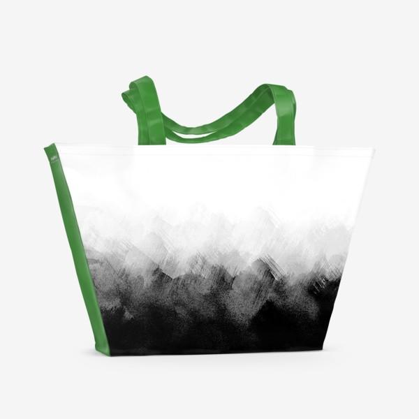 Пляжная сумка «Акварельный монохром»