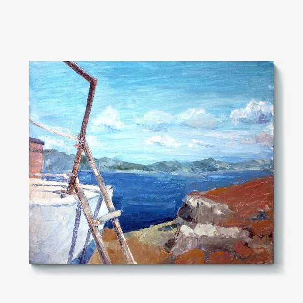 Холст «Море. Горы. Крит»