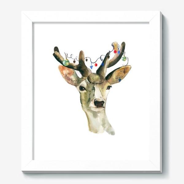 Картина «Лось новогодний »