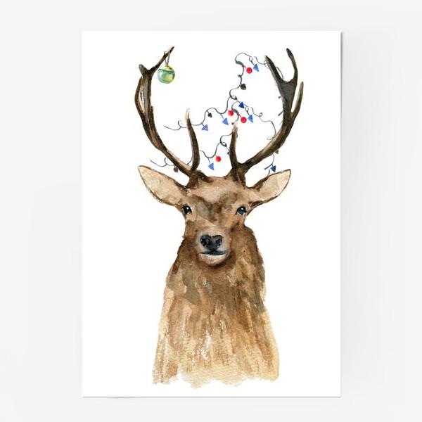 Постер «Лось новогодний 2»