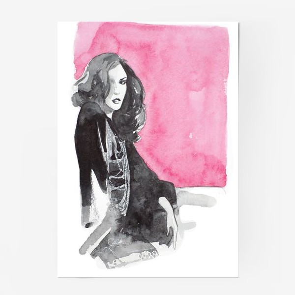 Постер «Розовая девушка»