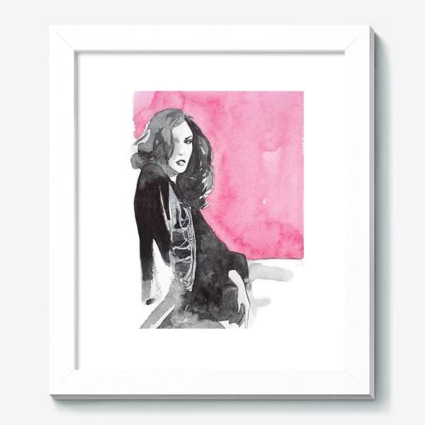 Картина «Розовая девушка»