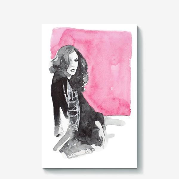 Холст «Розовая девушка»